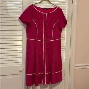 Contrast Trim Dress